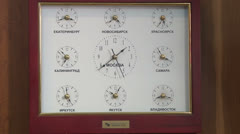 The clock with a different time Stock Footage