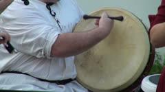 Hand-drum Stock Footage