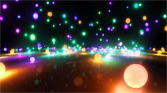 colorful light balls 1 - stock illustration