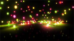 colorful light balls 5 - stock illustration