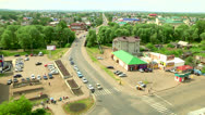 Crossroads in the city Stock Footage