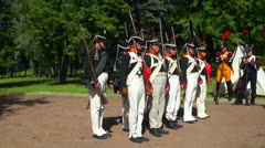 The Russian soldiers during the war with Napoleon Stock Footage