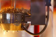 Popcorn making Stock Photos