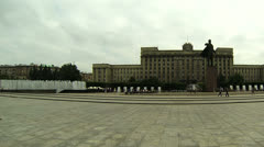 Lenin monument on Moskovska square Stock Footage