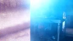 VJ & DJ  and lights background Stock Footage