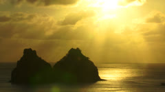 TWO BROTHERS ROCK IN FERNANDO DE NORONHA Stock Footage