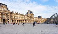 Stock Photo of louvre palace and pyramid, paris