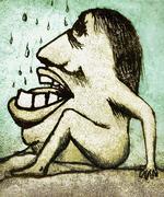 Fantasy monster illustration Stock Illustration