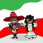 Welcome to mexico people Stock Illustration