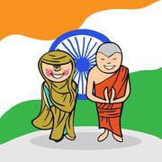 Stock Illustration of welcome to india people