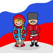 Welcome to russia people Stock Illustration