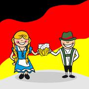 welcome to germany people - stock illustration