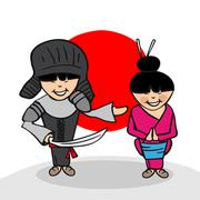 welcome to japan people - stock illustration