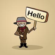 greetings/hello from australia  people design - stock illustration