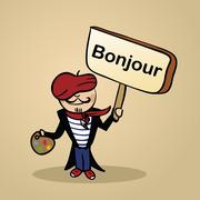 Stock Illustration of hello from france people design