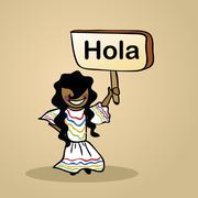 hello from mexico people design - stock illustration