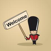 Welcome to uk people design Stock Illustration