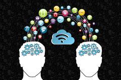 Cloud computing network concept Stock Illustration