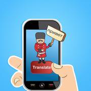 Translate app concept Stock Illustration