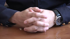 Stock Video Footage of Men's hands clasped in castle