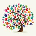Stock Illustration of colorful  solidarity hand tree