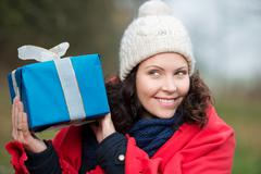 i have a gift - stock photo