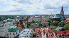 Szczecin Castle and Cathedral Stock Footage