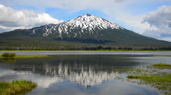 Mount Bachelor Reflection Stock Footage