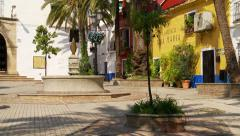 Plaza Santo Cristo, Marbella Stock Footage