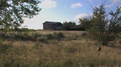 Abandoned farm on Texas prairie - stock footage