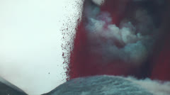 Red lava fountain - stock footage