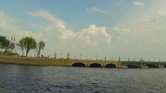 Troitsky bridge in St. Petersburg Stock Footage