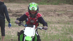 Travel riders motorcycle competitions Stock Footage