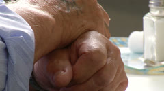 Hands of an old man Stock Footage