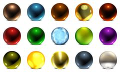 Orb collection Stock Illustration