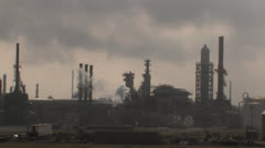 Oil refinery in Texas 3 - stock footage