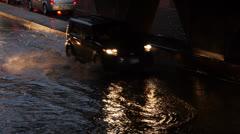 Toronto Storm Flooding 8 Stock Footage