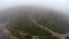 Northern Forest Roads on a Misty Morning Stock Footage