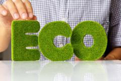 Stock Photo of eco alphabet concept