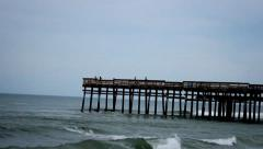 Stock Video Footage of Dock Pier Out In The Ocean