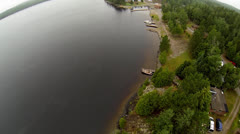 Aerial of Cottage Country Stock Footage