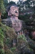 Grand Buddha of Leshan, Sichuan, China - stock photo
