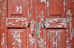 Kuorinta Puinen ovi Lähikuvat Kuvituskuvat