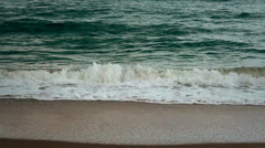 Close Up Waves Sea Green Beach (no horizon) Stock Footage