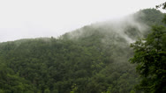 Stock Video Footage of foggy mountain
