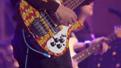 Guitar player on stage Stock Footage