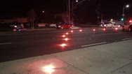 Stock Video Footage of Police Roadblock and Flare Pattern On Road