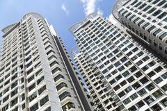 residential apartments - stock photo