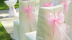 Wedding setup Stock Footage