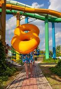 aquapark - stock photo
